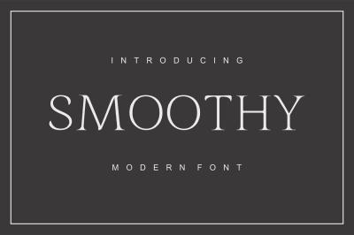 Smoothy - modern font