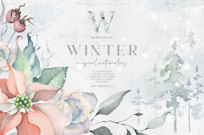 Winter Watercolors & Alphabets
