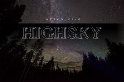 Highsky font