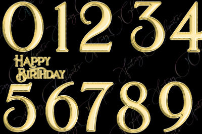 Gold Foil Balloons Numbers