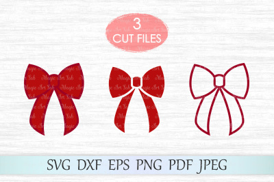 Bow svg, Christmas bow svg, Ribbon bow svg, Bows svg file, Red bow cut