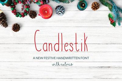 Candlestik Christmas Font & Extras