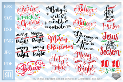Christmas bundle svg, Christmas Sayings Bundle SVG
