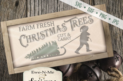 Tree Farm Sled SVG