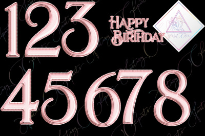 Rose Gold Foil Balloon Numbers