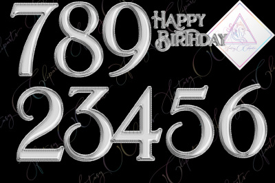 Silver Foil Balloon Numbers