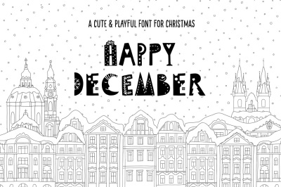 Happy December - Christmas Font