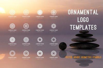 Ornamental logo templates set