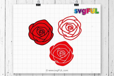 Roses SVG, Flowers Svg, Rose Svg, Svg Files, Cricut Files, Silhouette