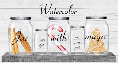 Watercolor Jar