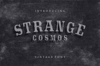 Strange Cosmos - Vintage Font