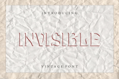 Invisible - Modern Font