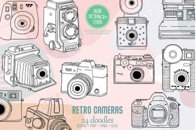 Vintage Cameras | Hand Drawn Polaroid Picture | Retro Video