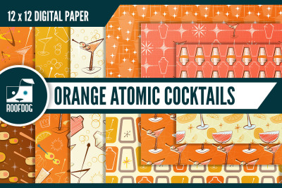 Atomic cocktail shaker digital paper