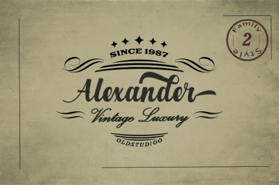 Alexander 2 Style Font