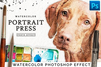 Watercolor Portrait Effect // Premium Filter for Photoshop