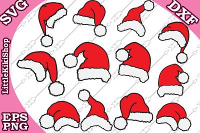 Santa Hat Svg,CHRISTMAS SVG, Santa Claus Svg,Santa Hat clipart
