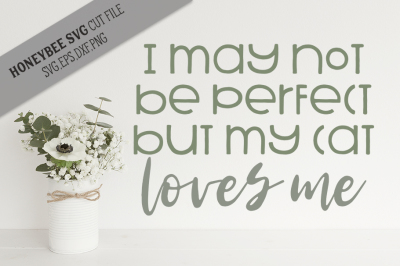 I May Not Be Perfect, Cat SVG Cut File