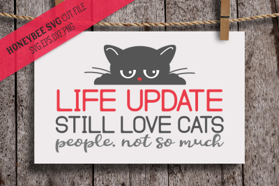 Life Update, Cat SVG Cut File