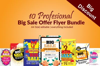 10 Big Sale Offer Discount Flyer Template