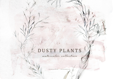 Watercolor Dusty Plants