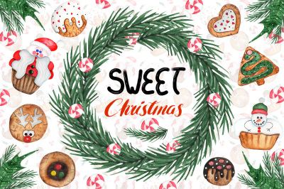 Watercolor Sweet Christmas