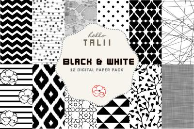 Black and White Digital Paper