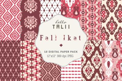 FALL IKAT DIGITAL PAPER