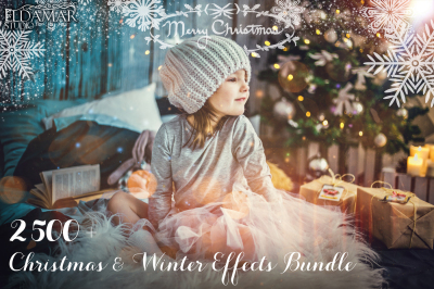 2500+ Christmas & Winter Overlays Bundle