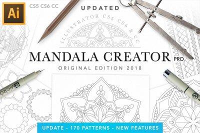 Mandala Creator Pro // Coloringbook Mandala Toolkit