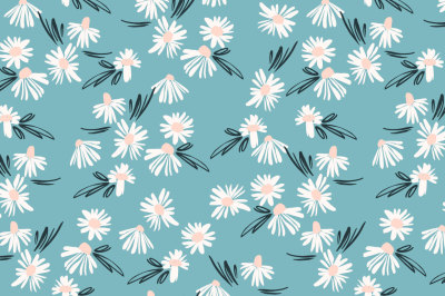 9 floral abstract seamless patterns.