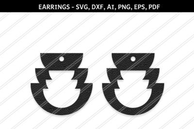 Teardrop Earrings svg, Abstract earrings svg, Jewelry