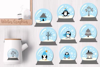 Winter Snow Globes