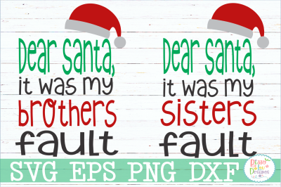 Dear Santa Sibling Set