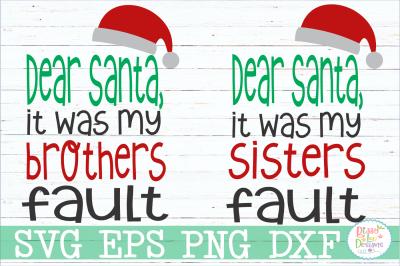 Dear Santa Sibling Set