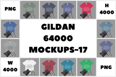 MEGA BUNDLE Gildan 64000 Adult T-Shirt Mockups - 17