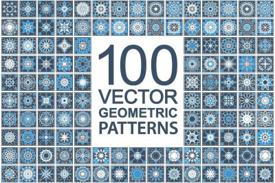 100 Patterns with geometric ornaments