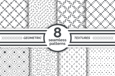 Set of geometrical seamless patterns