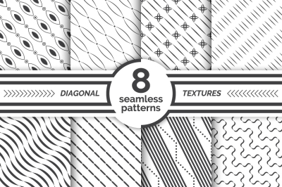 Set of diagonal seamless patterns