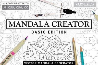 Mandala Creator Pro // Basic Edition Coloringbook Mandala Kit