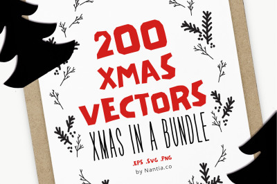 200 Items Christmas Bundle