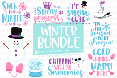 Winter Bundle SVG DXF - 10 Designs