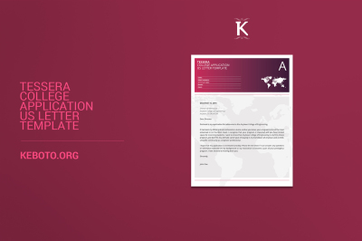 Tessera College Application US Letter Template