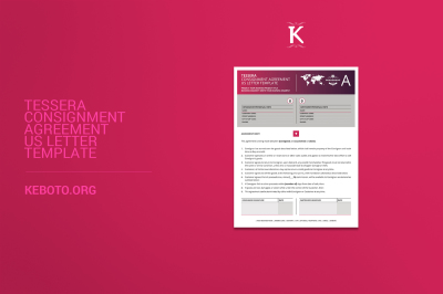 Tessera Consignment Agreement US Letter Template