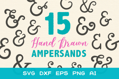 15 Ampersands - SVG DXF EPS Cutting Files