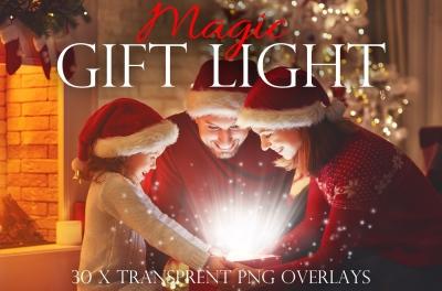 Christmas gift overlays