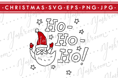 Ho Ho Ho - Christmas Quote SVG Cut File Silhouette
