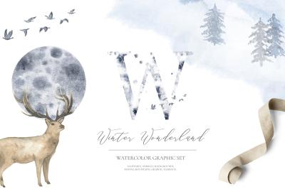 Winter Wonderland - watercolor set