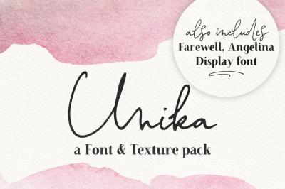 Unika | Font & Texture pack