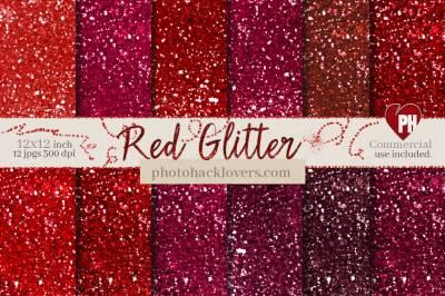 Red glitter Scrapbook paper